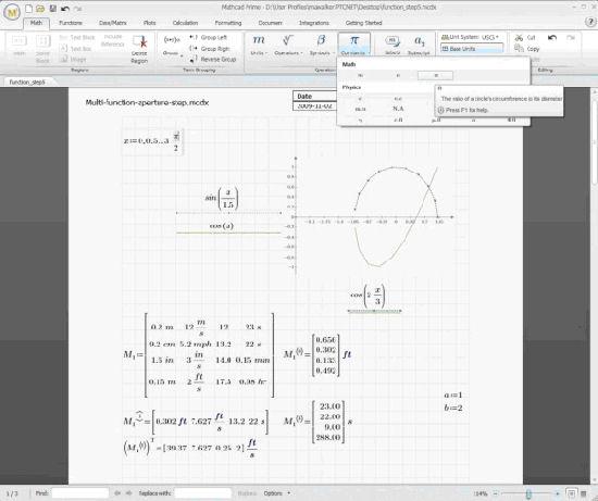 Mathcad использует естественный математический язык, не требуя навыков программирования
